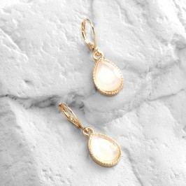 White Opal  Drop Earrings by World Market