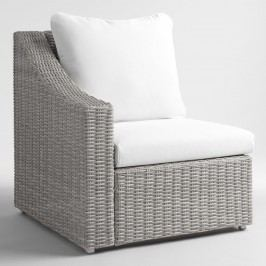 Gray All Weather Veracruz Outdoor Patio Sectional Right Armchair by World Market