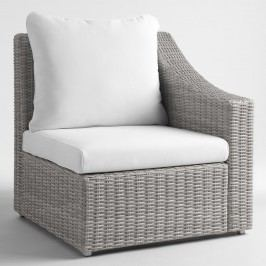 Gray All Weather Veracruz Outdoor Patio Sectional Left Armchair by World Market