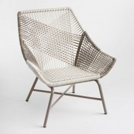 Gray Woven All Weather Wicker Andalusia Outdoor Patio Chair by World Market