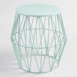 Surf Spray Octavia Faceted Outdoor Patio Stool: Blue by World Market