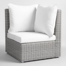 Gray All Weather Veracruz Outdoor Patio Sectional Corner Chair by World Market