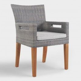 Gray All Weather Wicker Hakui Armchairs Set of 2 by World Market
