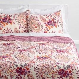 Purple and Ivory Paisley Elizabeth Reversible Quilt: Purple/Multi - Cotton - King Quilt by World Market King