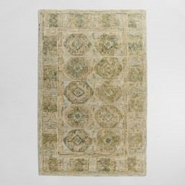 Tonal Green Tufted Wool Khari Area Rug: Blue/Green - 5' x 8' by World Market 9Ftx12Ft