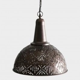 Rustic Bronze Cut Metal Pendant Lamp by World Market