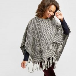 Black and White Knit Poncho by World Market