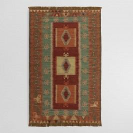 Rust and Mustard Graphic Print Shena Indoor Outdoor Patio Rug - 5' x 8' by World Market 5Ftx8Ft