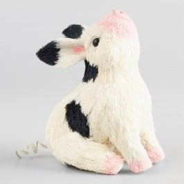 Black and White Natural Fiber Pig Decor by World Market