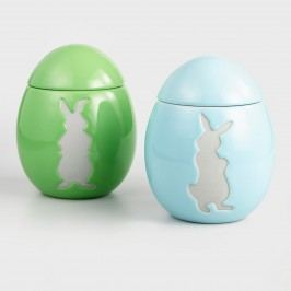 Blue and Green Peter Rabbit Ceramic Egg Cookie Jars Set of 2 by World Market