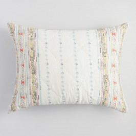 Blue and Coral Squares Dalia Pillow Shams Set of 2 by World Market