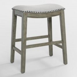 Antique Gray Jayceson Upholstered Counter Stools Set of 2 by World Market