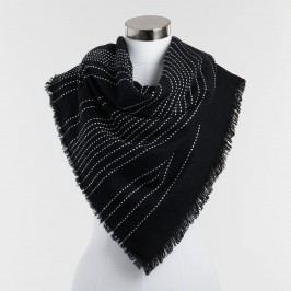 Oversized Black and White Blanket Scarf by World Market