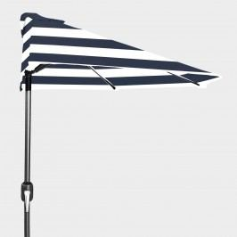 Peacoat Blue Stripe Half Outdoor Patio Umbrella by World Market