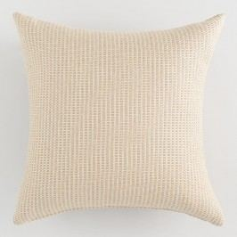 Sunbrella Tan Textured Outdoor Patio Throw Pillow: Natural by World Market