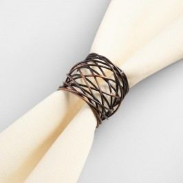 Woven Metal Napkin Rings, Set of 4 by World Market