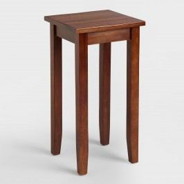 Small Mahogany Chloe Accent Table: Brown - Wood by World Market