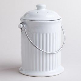 White Ceramic Compost Bucket by World Market