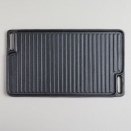 Double-Sided Cast Iron Griddle: Black by World Market