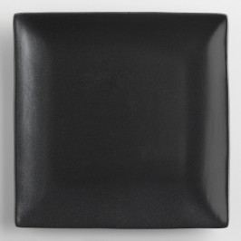 Square Black Trilogy Salad Plates, Set of 4 - Stoneware by World Market