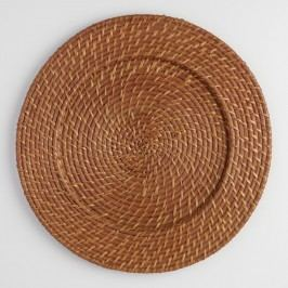 Rattan Charger, Set of 4: Brown - Natural Fiber by World Market