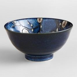 Cherry Blossom Bowls, Set of 6: Blue - Stoneware by World Market