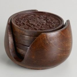 Carved Wood Coasters by World Market