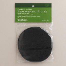 Compost Charcoal Filters, Set of 10: Gray by World Market