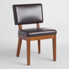 Espresso Bonded Leather Sophia Chairs Set of 2: Brown - Fabric by World Market