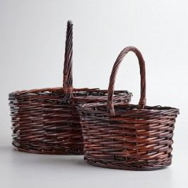 Dark Brown Oval Isabella Baskets - Willow - Medium by World Market Medium