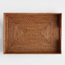 Rattan Tray, Honey: Brown - Natural Fiber by World Market