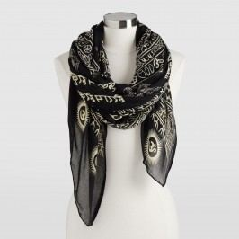 Black and Taupe Prayer Shawl by World Market
