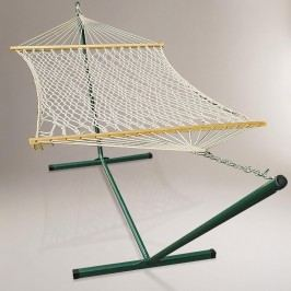 Cotton Rope Single Hammock with Stand by World Market