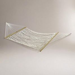 Cotton Rope 2 Person Hammock: White/Natural - Fabric by World Market