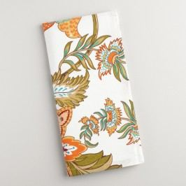 Floral Kavita Napkins Set of 4 - Cotton by World Market