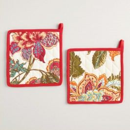 Floral Kavita Potholders Set of 2 by World Market