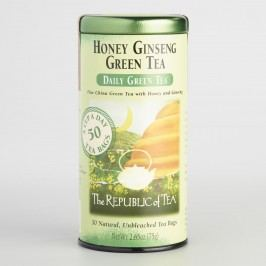 The Republic of Tea Honey Ginseng Green Tea, 50 Count Tin by World Market