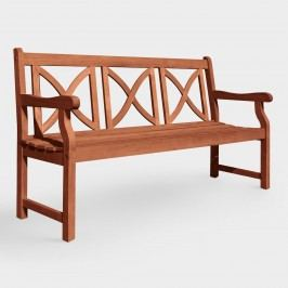 Large Greenport Garden Bench: Brown/Green/Natural - Wood by World Market