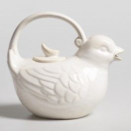 Bird Teapot: White - Stoneware by World Market