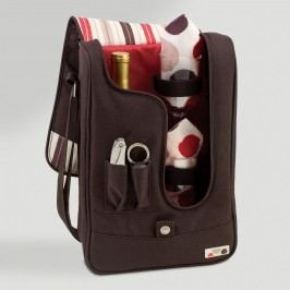 Mocca Wine Tote & Cooler: Brown by World Market