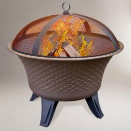 Bella Fire Pit, Speckled Bronze Finish by World Market