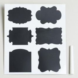 Chalk Board Label Set: Black by World Market