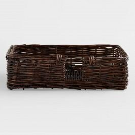 Brown Guest Napkin Basket - Willow by World Market