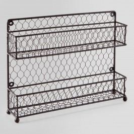 Wire Two-Tier Spice Rack: Brown by World Market