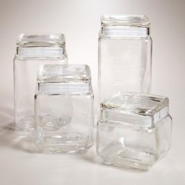 Stackable Square Glass Jars with Lids - 27Oz. by World Market 27Oz.