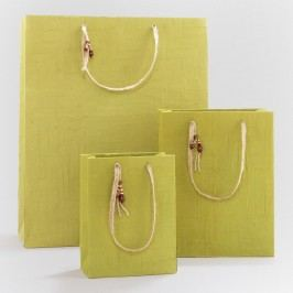 Woven Green Gift Bags - Natural Fiber - Small by World Market Small