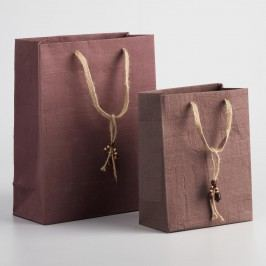 Brown Woven Handmade Gift Bags - Natural Fiber - Large by World Market Large