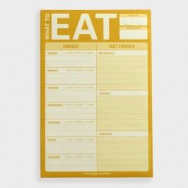 What To Eat Menu Planner Notepad by World Market