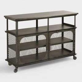 Metal Bexley Bar: Gray/Silver by World Market