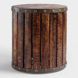 Wood Plank Drum Table: Brown by World Market